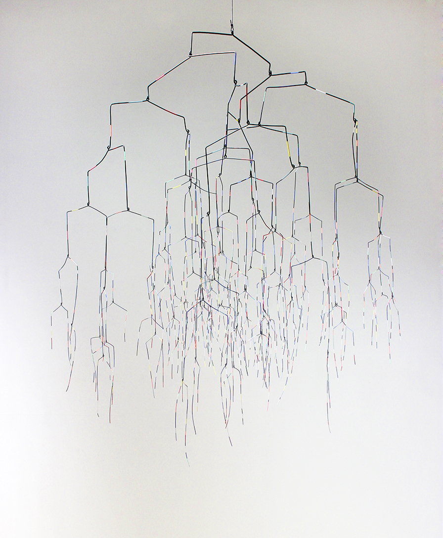 There's no such thing as a good decision (multivalent).  oxidized steel wire and paint 50 x 38 x 44 inches. 2013