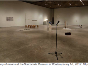 ECONOMY OF MEANS @ THE SCOTTSDALE MUSEUM OF CONTEMPORARY ART
