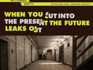 When You Cut into the Present the Future Leaks Out at Old Bronx Borough Courthouse
